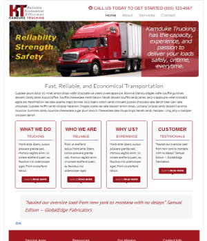 Web Design for startup Trucking Service