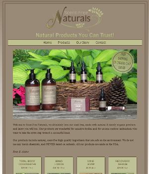 Scent-Free Naturals Website