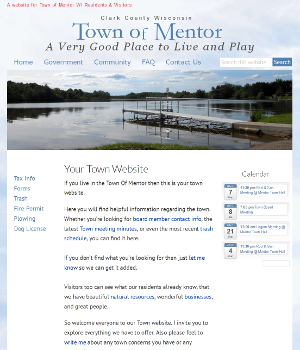 Image of Town of Mentor Wisconsin Website