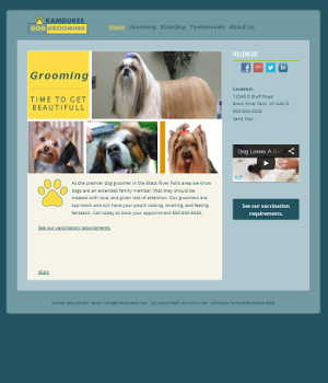 web design for dog groomer
