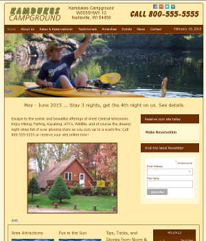 website for campground